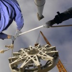 Montage des Stators an einer E-126 © Enercon GmbH
